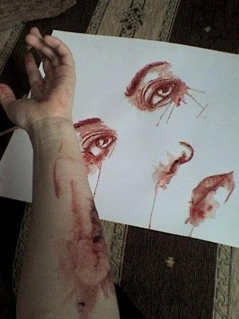 Vérfestmény