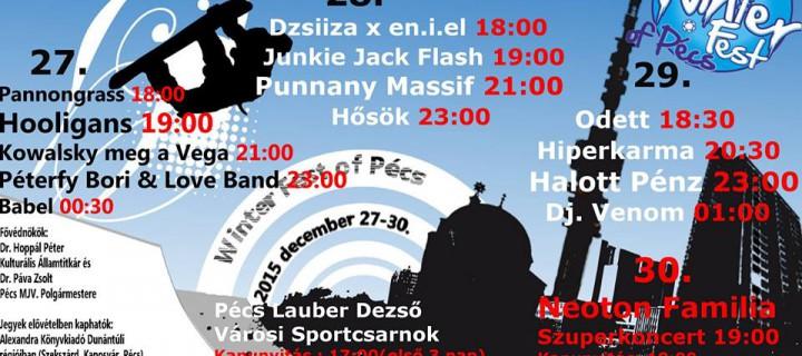 Pécsi Sör, ismerős dallamok, újra hangos a Lauber Dezső Sportcsarnok – Winter Fest of Pécs 2015